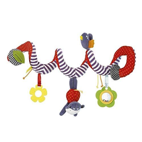 XINGDAO Activity Spiral Plush Toys, Activity Spiral für Bett, Kinderwagen, Laufgitter,Länge: 65cm