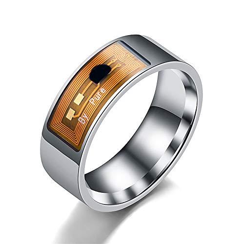 hereubuy NFC Multifunktionaler wasserdichter intelligenter Ring Smart Wear Finger Digital Ring Wasserdicht Bequem Fasion Paare Ringe Beichte Artefakt