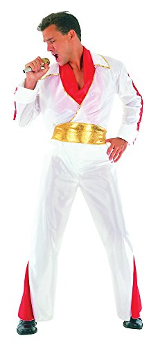 Bristol Novelty - Costume da rock star per adulti, circonferenza petto 107-112 cm, AC293