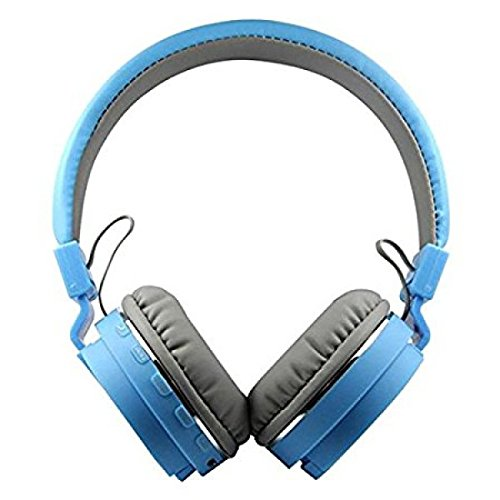 SH-12 wireless headphones stretchable foldable with Bluetooth and inbuilt microphone and SD card slot(Blue) Image 4