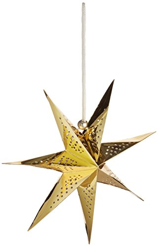 American Crafts Heidi Swapp Sept points Star Lanterne en papier aluminium doré 28, acrylique, multicolore