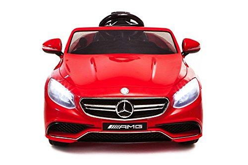 Lizenz Kinderauto Mercedes - Benz S63 AMG 2 x 35W 12V MP3 RC Elektroauto Kinderfahrzeug Ferngesteuert Elektro (Weiss)