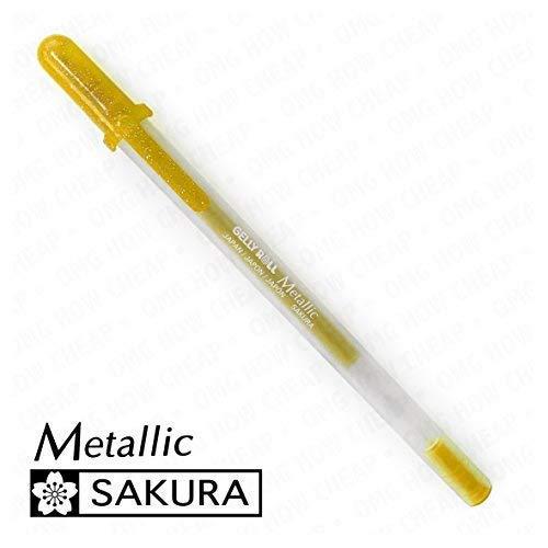 Sakura Metallic-Medium Gelly Roll Pen-Single-gold # 551 -