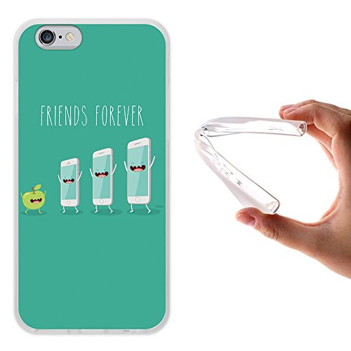 iPhone 6 6S Hülle, WoowCase Handyhülle Silikon für [ iPhone 6 6S ] Friends Forever Popcorn und Filme Handytasche Handy Cover Case Schutzhülle Flexible TPU - Transparent Housse Gel iPhone 6 6S Transparent D0413
