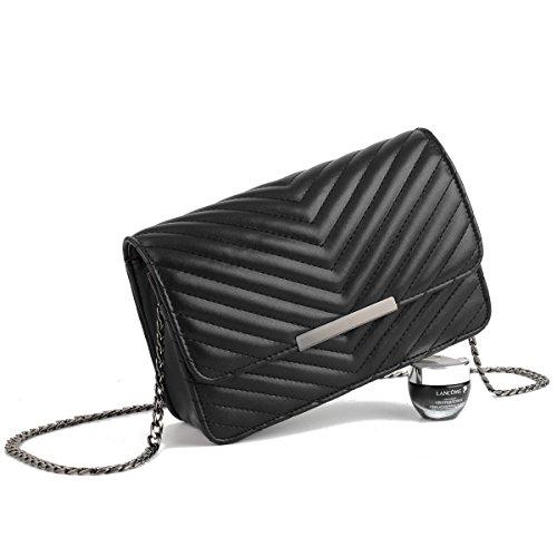Dame Fashion Geometric Pattern Chain Handtaschen Multi Fach Messenger Bag Einfache Elegant Casual Retro Messenger Bag A