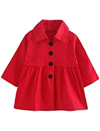 Blusas y Camisas Niña, K-Youth Ropa Niña Otoño Invierno Chaqueta Bebé Niña Abrigo