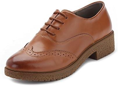 NVXIE Señoras Pisos Únicos Zapatos Nuevo Ocio Salvaje Retro Cabeza Redonda De Piel Genuina De Cuero Strappy Bajo...