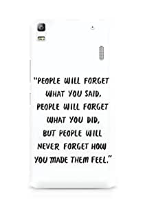 AMEZ people will forget what you said did Back Cover For Lenovo K3 Note