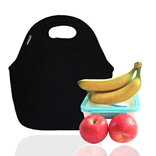 Ambielly neoprene pranzo al sacco / scatola di pranzo / Lunch Tote / picnic Borse dispositivo di raffreddamento isolato dell'organizzatore di corsa
