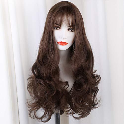 Rifuli® Kurze Haarperücke Frauen-sieben-Ton-synthetisches langes gewelltes Haar Pferdeschwanz-Haar-Erweiterungs-Perücke Kurze Haarperücke Styling Perücken ()