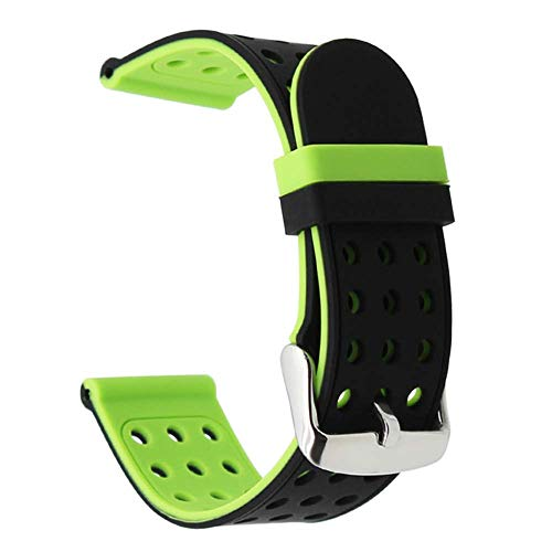 TRUMiRR Für Samsung Gear S3 Frontier/Classic Armband, 22mm Quick Release Armband Double Color Silikon Gummi Uhrenarmband für Samsung Galaxy Watch 46mm