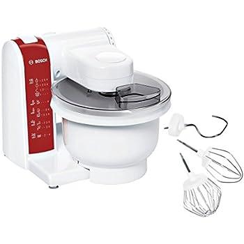 Bosch Mum 48Re Küchenmaschine 600 Watt - Weiß/Rot: Amazon.De