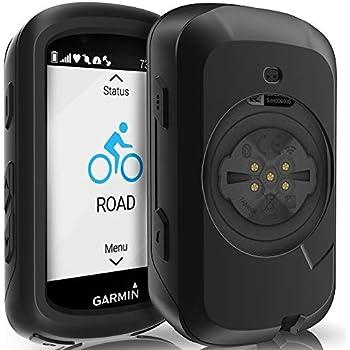 TUSITA Custodia per Garmin Edge Explore 820 Accessori per GPS Bike Computer Cover Protettiva in Silicone per Pelle Blu