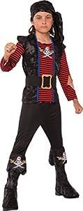 Rubies - Disfraz de Pirata Bribón para niños, talla 3-4 años (Rubies 630938-S)