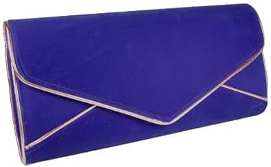Girly HandBags Marinenblau Nautical übergroßen Abend Clutch Bag Unterarmtasche Samt Hochzeit Extra Groß -- Blau
