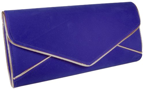 Girly HandBags Marineblau nautic übergroße Abend-Handtasche samt Hochzeit übergroß Blau1