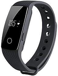 KOBWA Fitness-Tracker-Herzfrequenz Fitnessarmband- Pulsuhr Aktivitätstracker Wasserdicht- Smart Bracelet - Smartwatch für Android Smartphone und IPhone IOS,Schrittzähler, Kalorienzähler, Schlaf-Monitor,Push-Message und Anrufer - ID Benachrichtigung