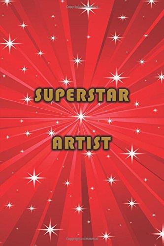 Sketchbook: Superstar Artist 6x9 - BLANK JOURNAL NO LINES - unlined, unruled pages (Superheroes & Superstars Sketchbook Series)