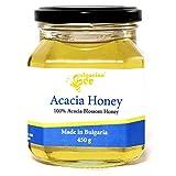 450 g Miel de Fleur d'Acacia, Cru, non Chauffé, sans Sucre, non Pasteurisée, sans Additifs