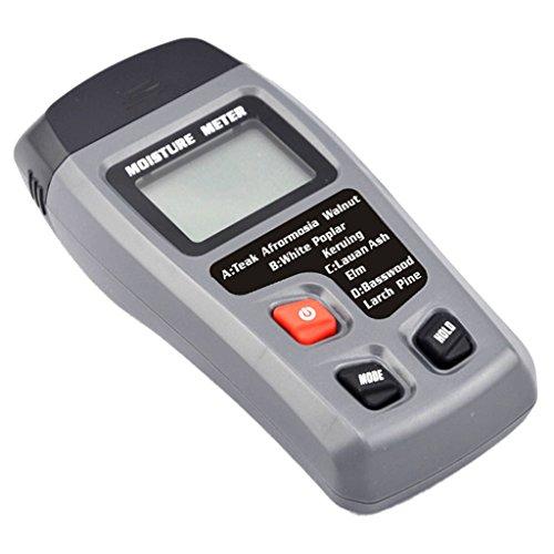 Sharplace Holz Feuchtigkeit Meter, Digital feuchten Meter Detektor Tester für Holz / Papier / Pappe und anderer Materialien Luftfeuchtigkeit messen