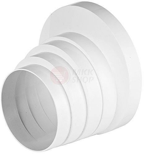 Ø 100 110 120 125 150 mm Reduzierverbinder Reduzierstück Reduktion Rohr Übergang Lüftung Rundrohr Ventilation Lüftungskanal Ventilator Universal RKO Ø 100-150 mm Test