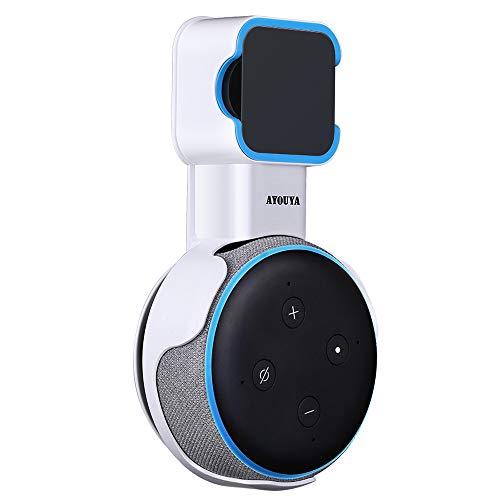 Echo Dot 3 wandhalterung, AYOUYA Echo Dot Halterung für Echo Dot (3. Gen.) Intelligenter Lautsprecher, Alexa Soundqualität Garantiert,Platzsparend und Kabel verbergen (Weiß)