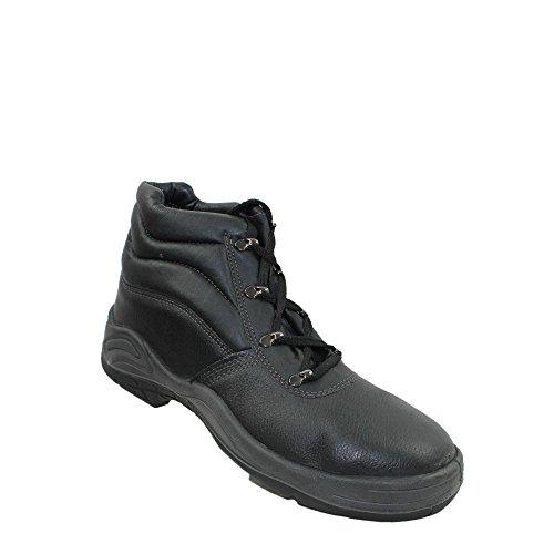 S3 SRC Sicherheitsschuhe Arbeitsschuhe Trekkingschuhe Hoch Schwarz (Super Hohe Stiefel)