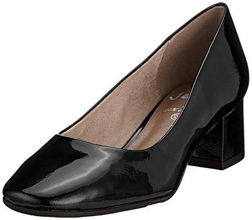 Jana Damen 22302 Pumps, schwarz (black patent), 38 EU Black Patent-leather Pumps