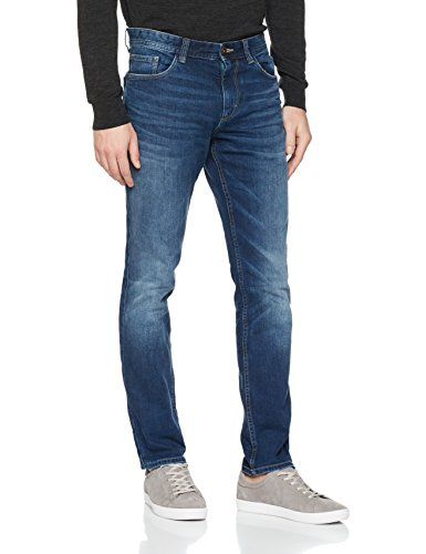 TOM TAILOR Herren Jeans 5 Pocket, Josh Regular Slim, Blau (Mid Stone Wash Denim 1052), W31/L30 (Herstellergröße:31)