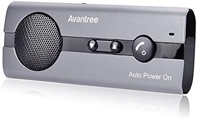 Avantree Kit Vivavoce Bluetooth per Auto 4.0 con ACCENSIONE AUTOMATICA Tramite Sensore di Prossimità e Supporto per Aletta Parasole. Funziona con i GPS, Musica, Altoparlante per cellulari 10BS
