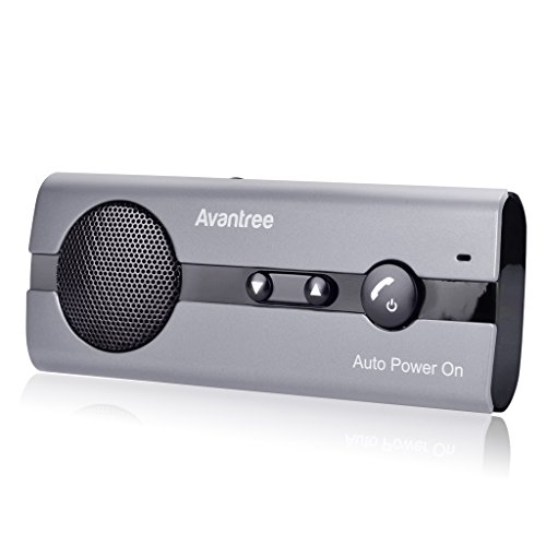 Avantree AUTO POWER ON Manos Libres Bluetooth Coche Kit con Sensor de Movimiento Integrado, Soporta GPS, Música, Altavoz Inalámbrico para Teléfonos Móviles