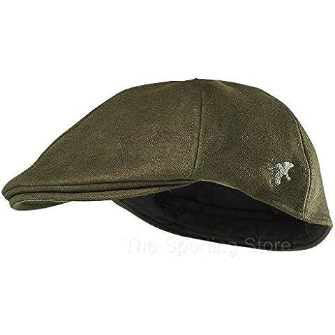 Seeland Caden molesquín impermeable Flatcap Gorra en Phantom Verde 180208230