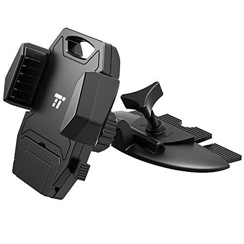 Handyhalterung Auto TaoTronics KFZ Universal Halterung für CD-Spielerschlitz einhändige Bedienung kompatibel für Handys mit einer Breite von 5cm bis 10cm & CD-Schlitze von 3mm bis 14mm