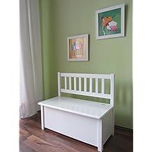 Best-of-JAM - Banco para niños de madera maciza, color blanco