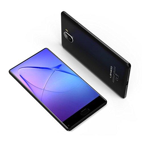 LEAGOO KIICAA MIX - 4G Smartphone Libre ( Pantalla 5,5 pulgadas FHD, Octa Core, 3GB RAM + 32GB ROM, Android 7.0, Cámara trasera 13MP AF + 2MP , 13MP delantera, lector de huellas, Dual SIM), Negro