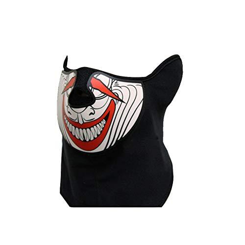 Controlled Sound Luminous Mask Musik LED leuchtet Rave Maske mit EL Ton Actived Flashing Luminous Kühlen Partei-Masken-Halloween-Maske Rot und Weiß Batterie Nicht eingeschlossen