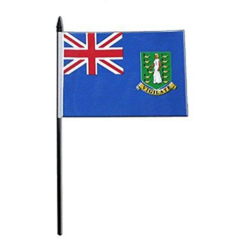 GIZZY Britische Jungferninseln 15,2x 10,2cm Tisch Flagge mit Stick und Boden
