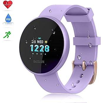 reloj inteligente mujer,reloj de monitor de ritmo cardíaco con pantalla a color, pantalla