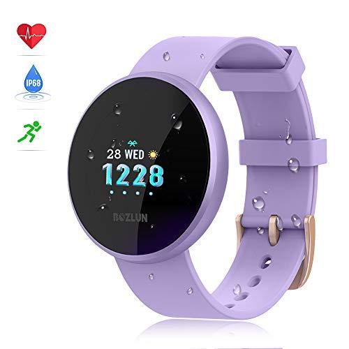 bozlun Smartwatch für Männer und Frauen, mit Fitness-Tracker, Pulsuhr mit Farbbildschirm, IP68-wasserdicht, Auto-Wake-Bildschirm