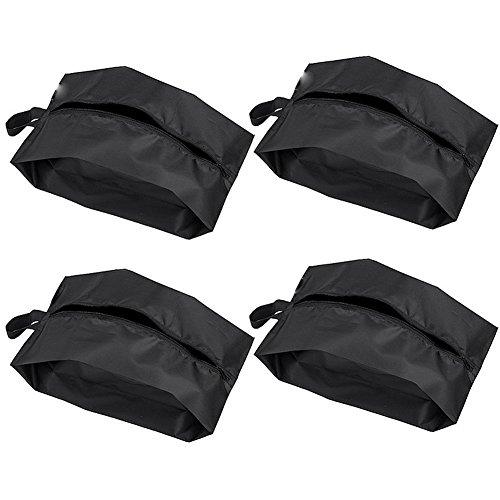 TININNA Juego de 4Grande Almacenamiento Nailon Impermeable Portátil de viaje bolsa para zapatos con cierre de cremallera para los hombres y las mujeres