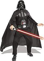 taglia: taglia unica (48/52) colore: nero materiale: Poliestere Volume di consegna: Costume composto da maschera, mantella, copri-torace e spada laser