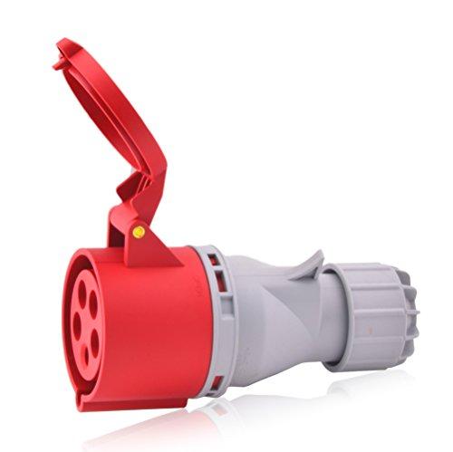 CEE-Starkstrom-Steckdose Intratec 32A 400V 6h IP44 5-polig (3P+N+E): IEC-60309 Industrie- und Mehrphasenstecker