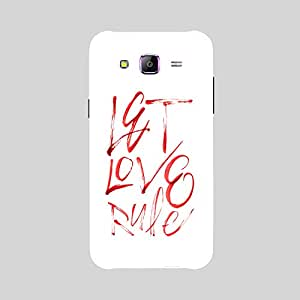 Back cover for Samsung Galaxy A7 Let Love Rule