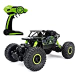 RC voiture Climb roche, hors route du véhicule 1/18 4 roues motrices Vitesse rapide Course Crawler voiture Dune Buggy télécommande Monster Truck 2.4Ghz rechargeable Hobby Toy voiture (vert)