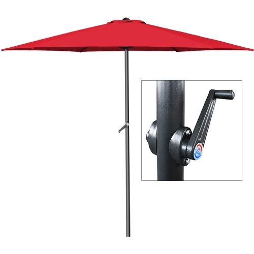 Deuba® Kurbelsonnenschirm • Aluminium • Ø300cm • mit Kurbel + Dachhaube • mit Neigevorrichtung • rot - Sonnenschirm Marktschirm Gartenschirm