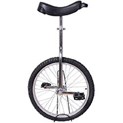 Velo 1 Roue Cirque jonglage monocycle Artiste 20 Pouces Mono Roue Argent-Noir