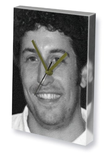 Jason Black Frame (JASON BIGGS - Canvas Clock (A4 - Signed by the Artist) #js002)