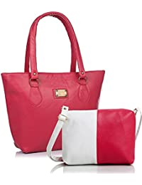 Mammon Women Handbag And Sling Bag Combo (HS-combo-pink, 40x30x10 CM)