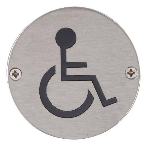 Steel Line ss-sign023-s Behinderte Symbol Zirkular–Satin Edelstahl