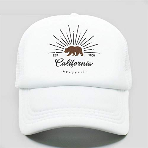 Kostüm Lkw Fahrer - ADLMNJDFR LKW-Fahrer Hut Mann Frau Hip Hop lustiger Hut Baseball Cap Coole Sommernetzkappe, alle weiße Kappe passend für 55 bis 58 cm Kopf